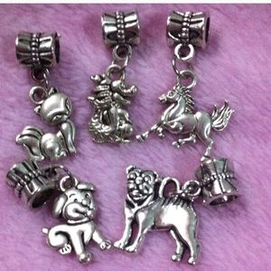 Jewelry - Fox, dog, horse dangle charm set